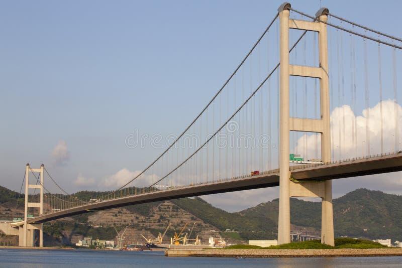 Tsing Ma桥梁香港 免版税库存图片