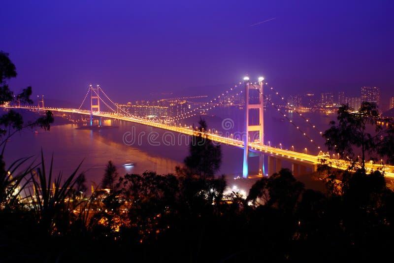 Tsing Ma桥梁,香港 库存照片