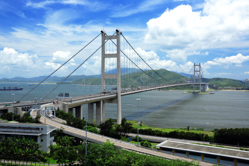 Tsing Ma Bridge stock image