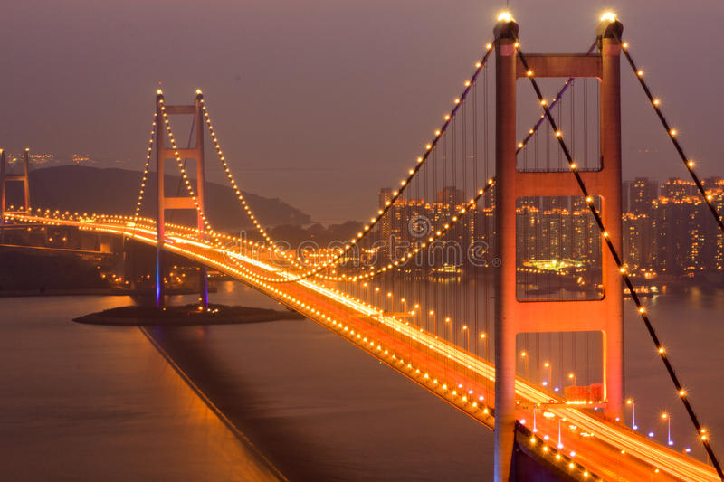 Download Tsing Ma Bridge stock photo. Image of warm, span, seventh - 19293778