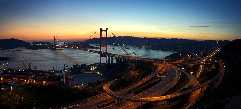 Tsing Ma Bridge stock photography