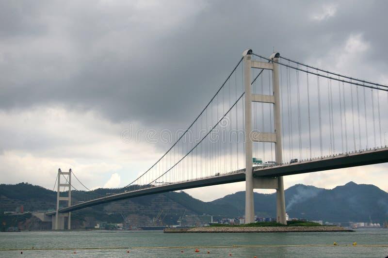 Tsing Ma Bridge en Hong Kong fotos de archivo libres de regalías