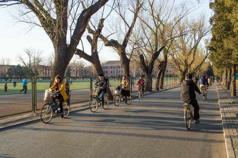 Tsinghua universitet arkivbild