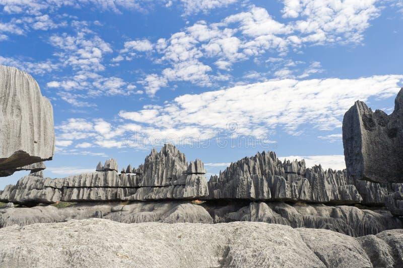 Tsingy DE Bemaraha royalty-vrije stock foto's