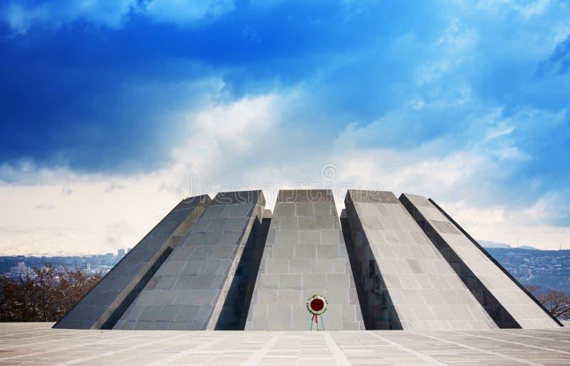Tsitsernakaberd El complejo conmemorativo del genocidio es monumento oficial de Armenia dedicado a las víctimas del genocidio arm fotos de archivo