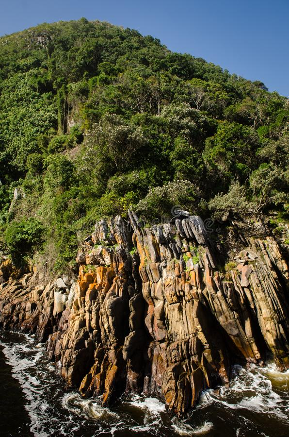 Tsitsikamma storms river rock. South Africa stock photography