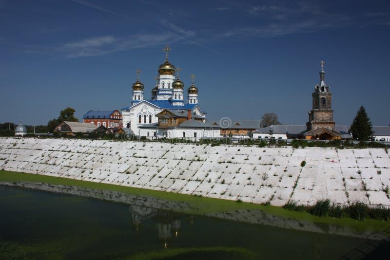 Tsivilsk. O Virgin do monastério de Tikhvin. fotografia de stock royalty free