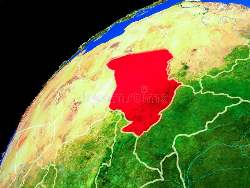 Tsjaad ter wereld van ruimte royalty-vrije illustratie