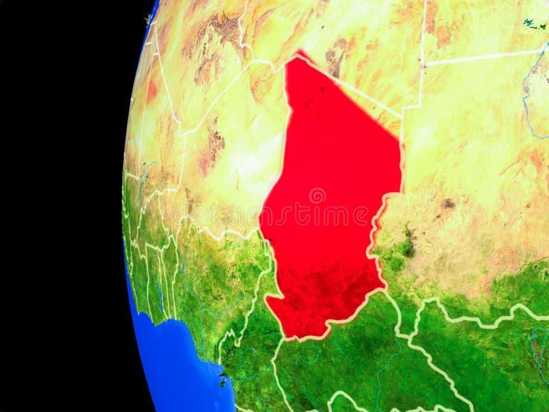 Tsjaad van ruimte royalty-vrije illustratie