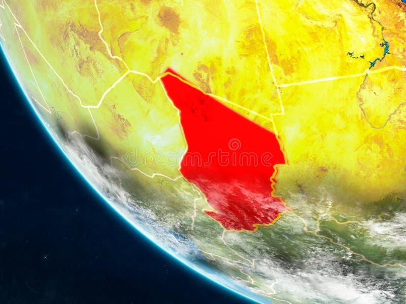 Tsjaad van ruimte ter wereld vector illustratie
