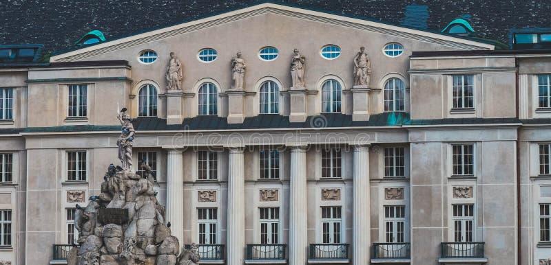 Tsjech, Brno stadsarchitectuur, een deel van het monument Een deel van stock foto