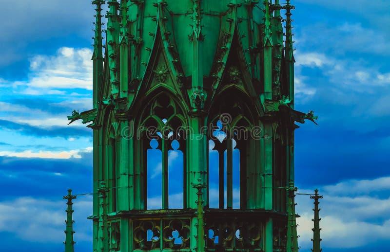 Tsjech, het Kasteel van Praag, St Vitus Cathedral de gotische bouw archit royalty-vrije stock foto