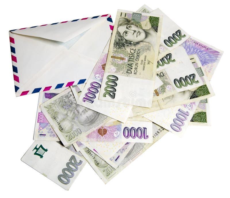 Tsjechisch geld, Tsjechische kronen royalty-vrije stock afbeelding