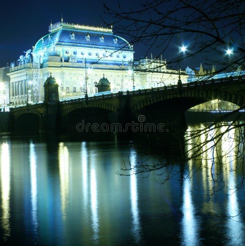 Tsjechisch Nationaal Theater stock afbeelding