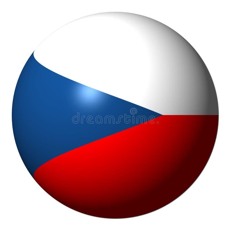 Tsjechisch vlaggebied stock illustratie