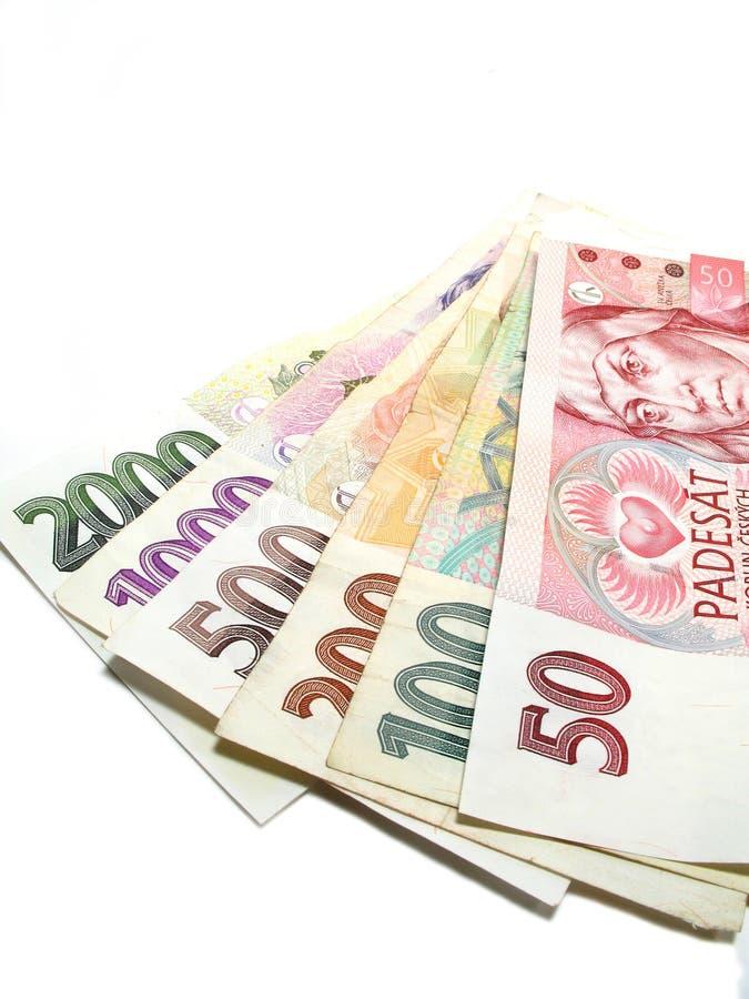 Tsjechische bankbiljetten royalty-vrije stock afbeelding