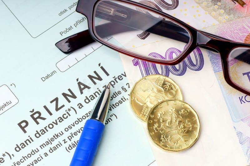 Tsjechische bezitsbelasting. stock afbeeldingen
