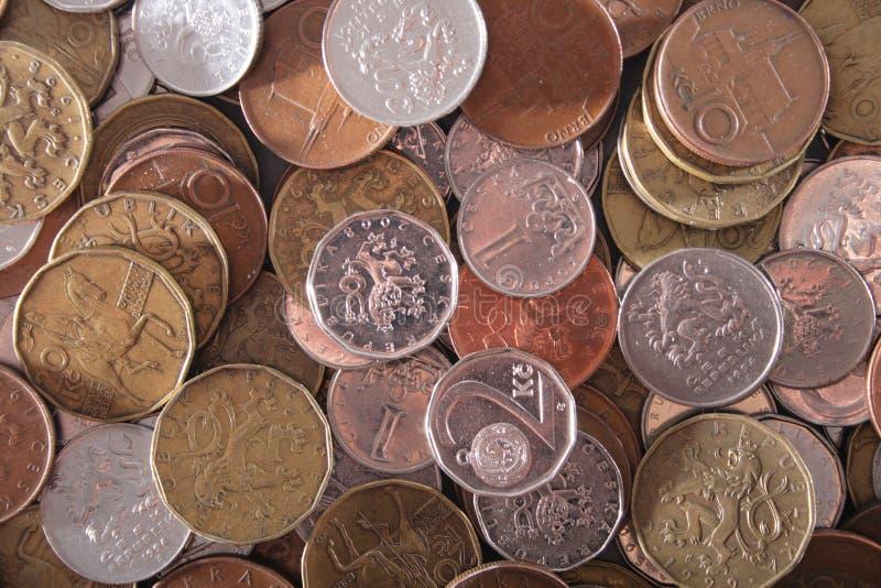 Tsjechische geldachtergrond royalty-vrije stock fotografie