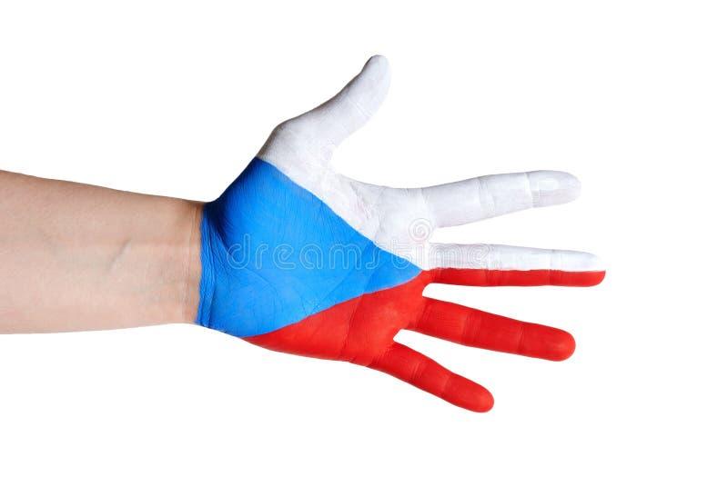 Tsjechische hand royalty-vrije stock afbeeldingen