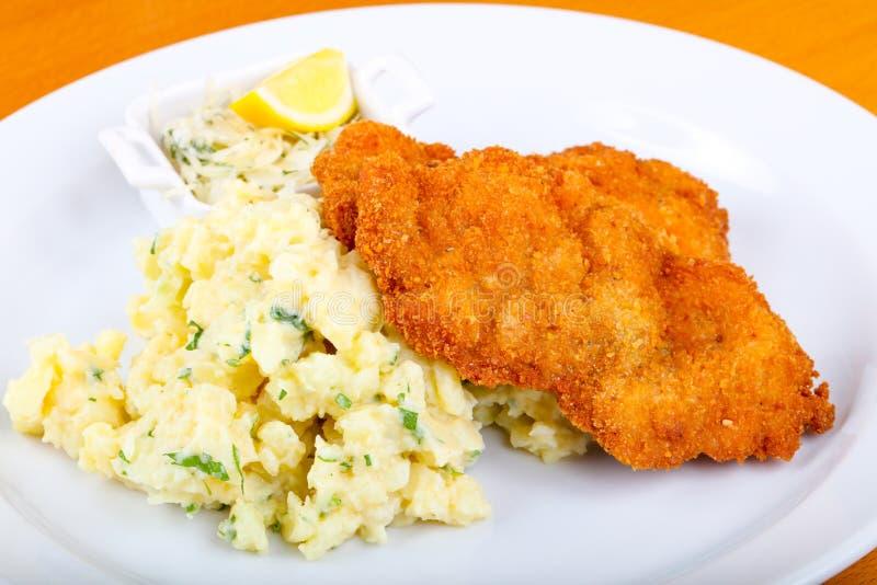 Tsjechische keuken - schnitzel royalty-vrije stock afbeeldingen