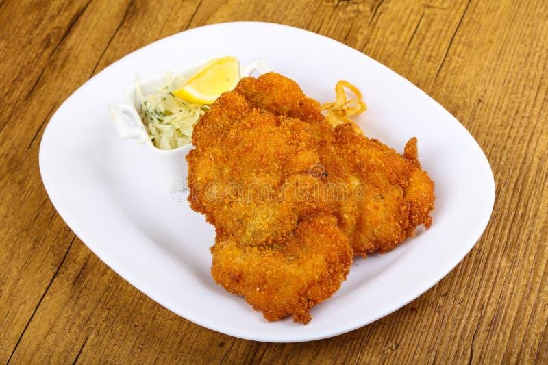 Tsjechische keuken - schnitzel royalty-vrije stock fotografie