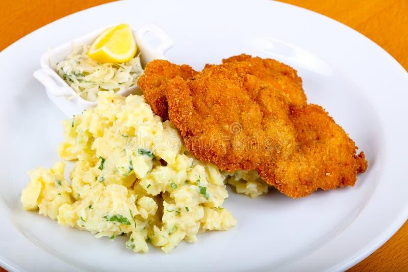 Tsjechische keuken - schnitzel royalty-vrije stock foto