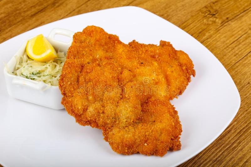 Tsjechische keuken - schnitzel stock afbeelding