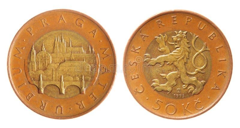 Tsjechische kroon stock fotografie