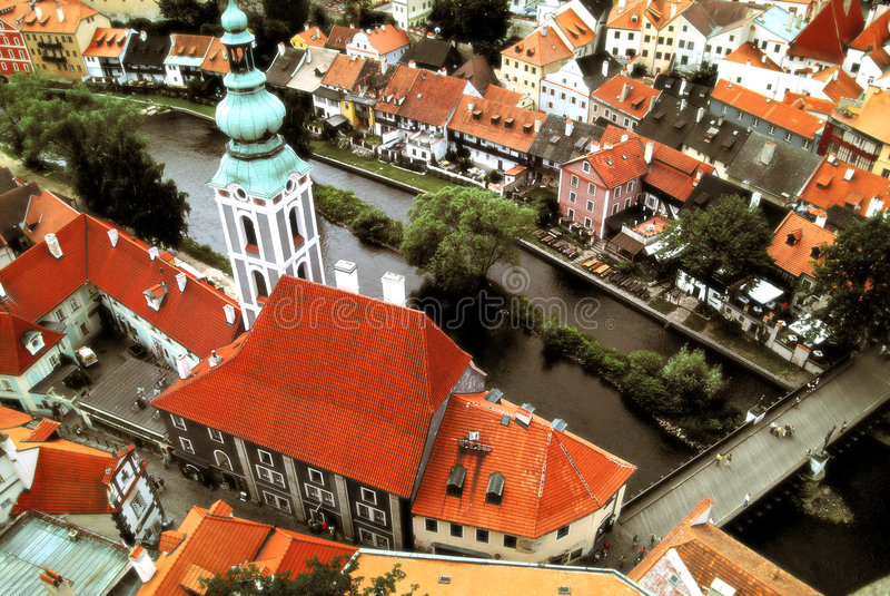 Tsjechische Krumlov royalty-vrije stock foto's