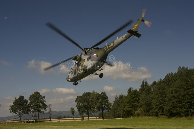 Tsjechische Luchtmacht w-3A SOKOL multifunctionele helikopter stock foto