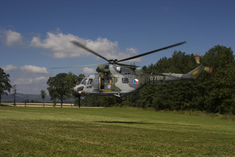 Tsjechische Luchtmacht w-3A SOKOL multifunctionele helikopter royalty-vrije stock afbeelding