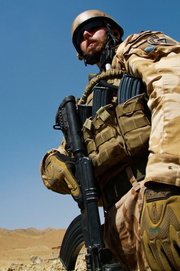 Tsjechische militair in Afghanistan stock afbeelding