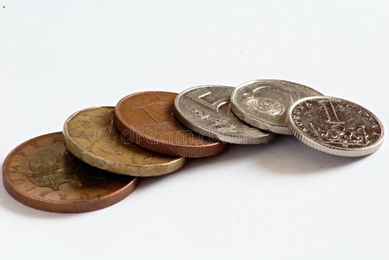Tsjechische muntstukken, kronen stock afbeeldingen