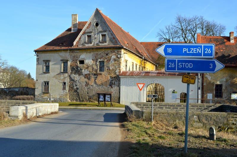 Tsjechische straat stock afbeelding