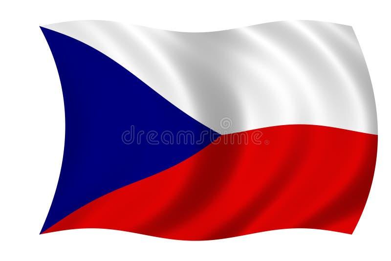 Tsjechische vlag vector illustratie
