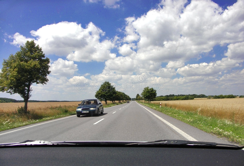 Tsjechische weg stock afbeelding