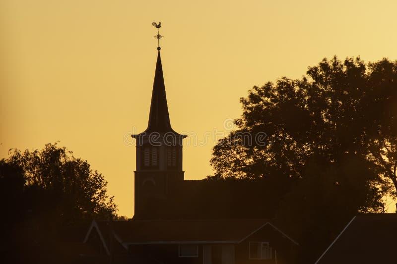 Tsjerke kościół w Terherne zdjęcie royalty free