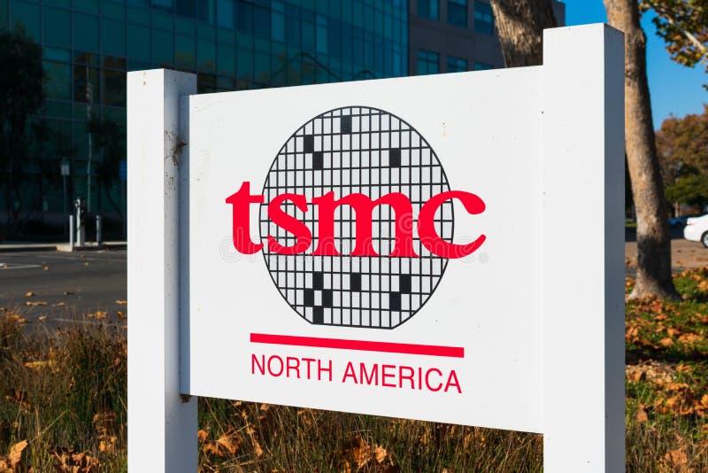 TSMC North America firma presso la Silicon Valley office di Taiwan Semiconductor Manufacturing Company immagini stock