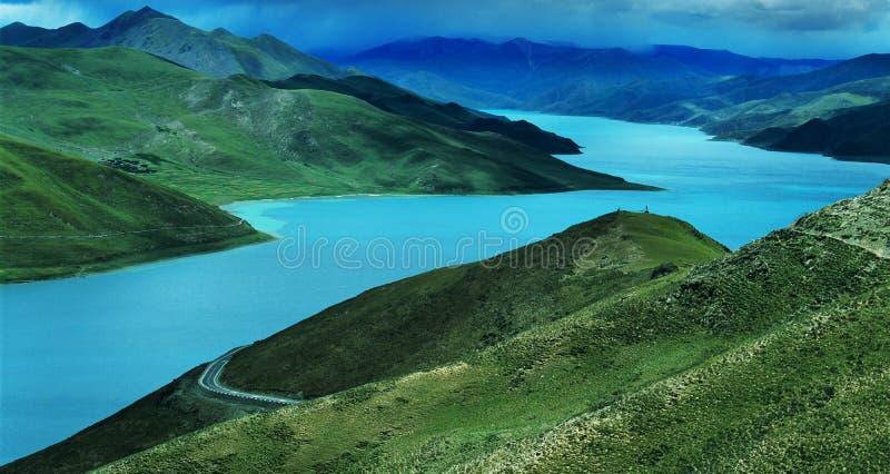 tso jeziorny yamdrok zdjęcie stock