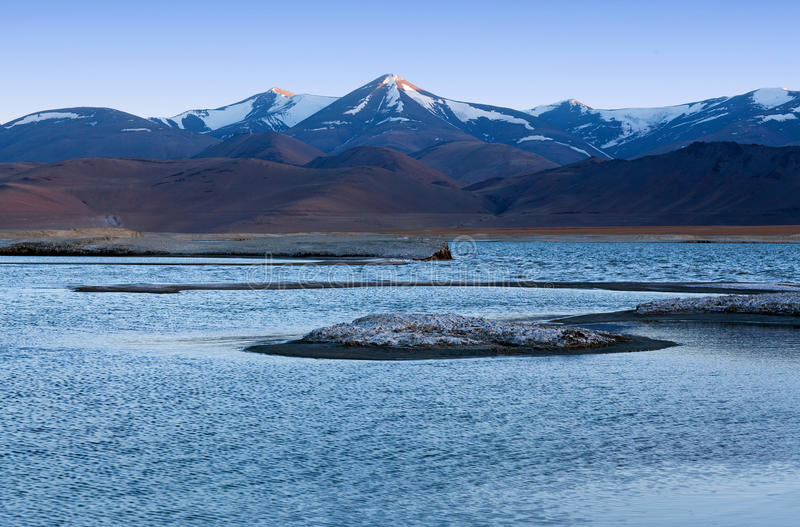 Tso Kar salt water lake in Ladakh, North India. royalty free stock photo
