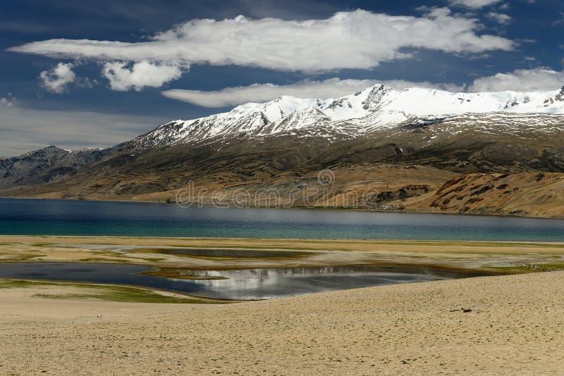 The Indian Himalaya - Karakorum mountains range - Tso Kar Lake royalty free stock images