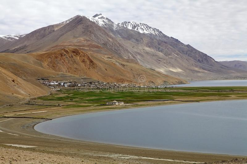 Tso Moriri jezioro w Ladakh, India fotografia royalty free