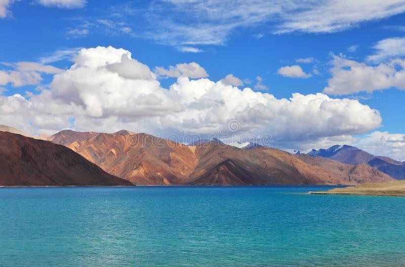 Tso Moriri lake,. Ladakh, Jammu & Kashmir, India high altitude lake 4,595 m /15,075 ft royalty free stock photography