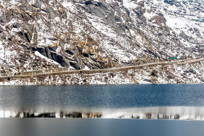 Tsomgo Lake Changu. A great peacefull Travel destination. Sikkim, India. Tsomgo Lake or Changu lake, The great Himalaya,Sikkim, India Elevation of around 13313ft stock photos