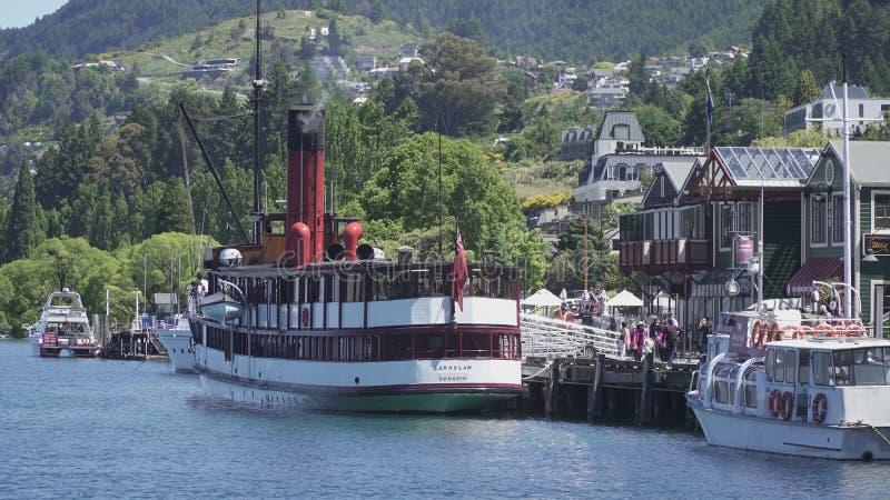 TSS Earnslaw, Queenstown, Nueva Zelanda fotografía de archivo libre de regalías