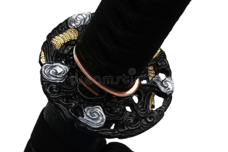 Tsuba : hand guard of Japanese sword royalty free stock photography