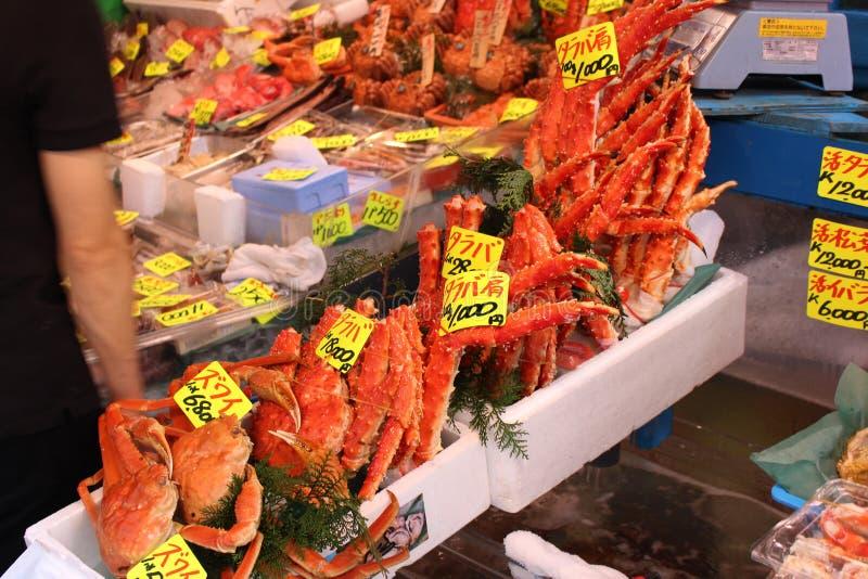 Tsukiji鱼市 免版税库存图片