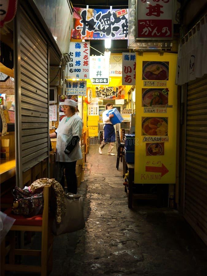 tsukiji токио рынка стоковое изображение