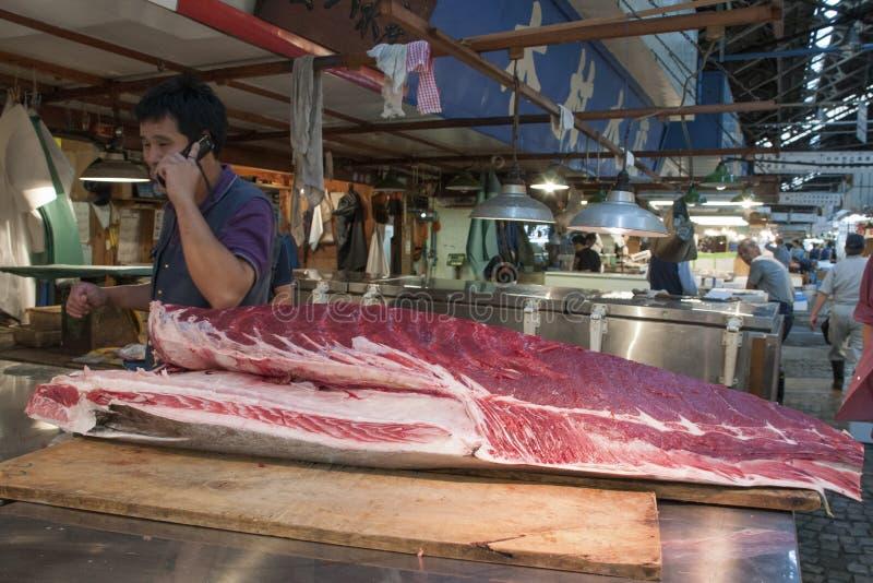 Tsukiji Fischmarkt stockbilder