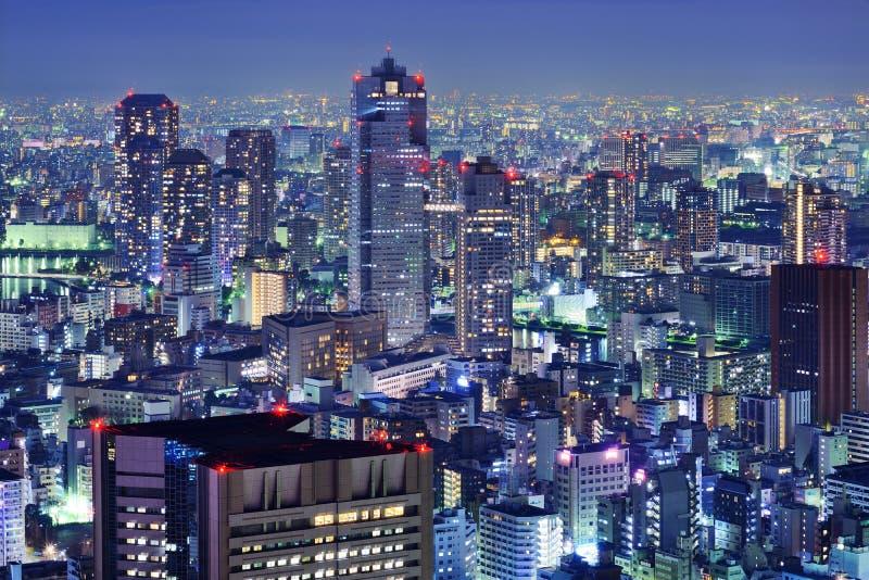 Tsukiji, horizon de Tokyo photos stock